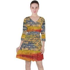 The Framework Drawing Color Texture Ruffle Dress by Onesevenart