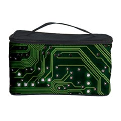 Board Computer Chip Data Processing Cosmetic Storage Case by Onesevenart