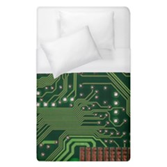 Board Computer Chip Data Processing Duvet Cover (single Size) by Onesevenart