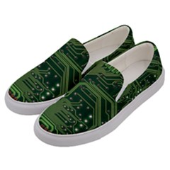 Board Computer Chip Data Processing Men s Canvas Slip Ons by Onesevenart