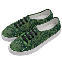 Board Computer Chip Data Processing Women s Classic Low Top Sneakers by Onesevenart