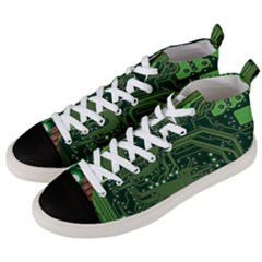 Board Computer Chip Data Processing Men s Mid Top Canvas Sneakers by Onesevenart
