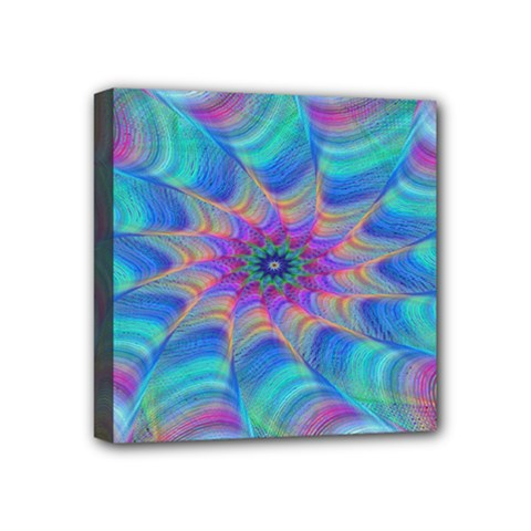 Fractal Curve Decor Twist Twirl Mini Canvas 4  X 4