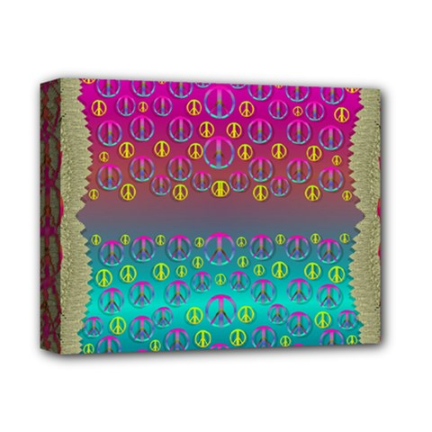Years Of Peace Living In A Paradise Of Calm And Colors Deluxe Canvas 14  X 11  by pepitasart
