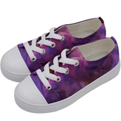 Ultra Violet Dream Girl Kids  Low Top Canvas Sneakers by 8fugoso