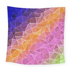 Crystalized Rainbow Square Tapestry (large) by 8fugoso