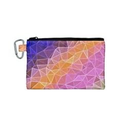 Crystalized Rainbow Canvas Cosmetic Bag (small) by 8fugoso