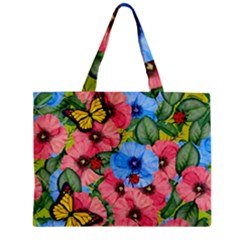 Floral Scene Mini Tote Bag by linceazul