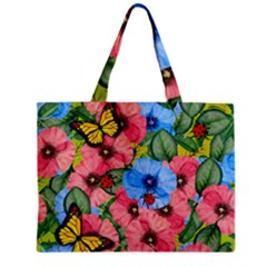 Floral Scene Zipper Mini Tote Bag by linceazul