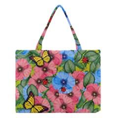 Floral Scene Medium Tote Bag by linceazul