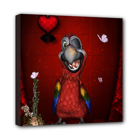 Funny, Cute Parrot With Butterflies Multi Function Bag by FantasyWorld7