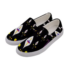 Quebec With Love Women s Canvas Slip Ons