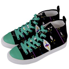 Quebec With Love Women s Mid-Top Canvas Sneakers