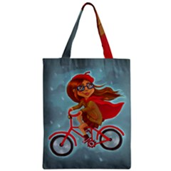 Girl On A Bike Classic Tote Bag by chipolinka