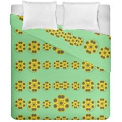 Sun Flowers For The Soul At Peace Duvet Cover Double Side (california King Size) by pepitasart