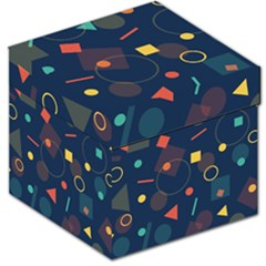 Blue Background Backdrop Geometric Storage Stool 12
