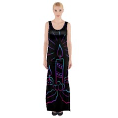 Advent Wreath Candles Advent Maxi Thigh Split Dress