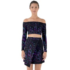Advent Wreath Candles Advent Off Shoulder Top With Skirt Set