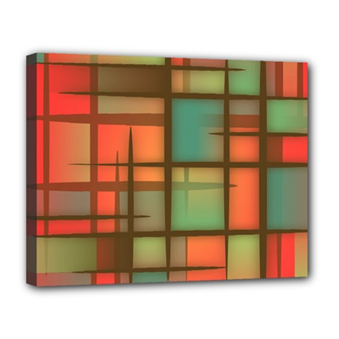 Background Abstract Colorful Canvas 14  X 11  by Nexatart