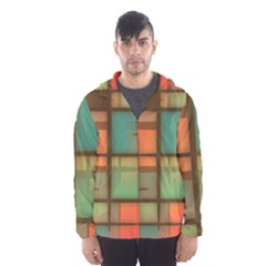 Background Abstract Colorful Hooded Wind Breaker (men)