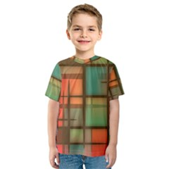 Background Abstract Colorful Kids  Sport Mesh Tee