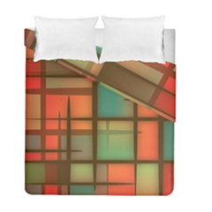 Background Abstract Colorful Duvet Cover Double Side (full/ Double Size)