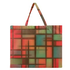 Background Abstract Colorful Zipper Large Tote Bag