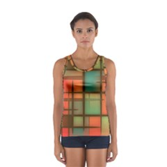 Background Abstract Colorful Sport Tank Top