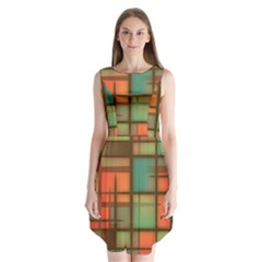 Background Abstract Colorful Sleeveless Chiffon Dress