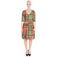Background Abstract Colorful Wrap Up Cocktail Dress