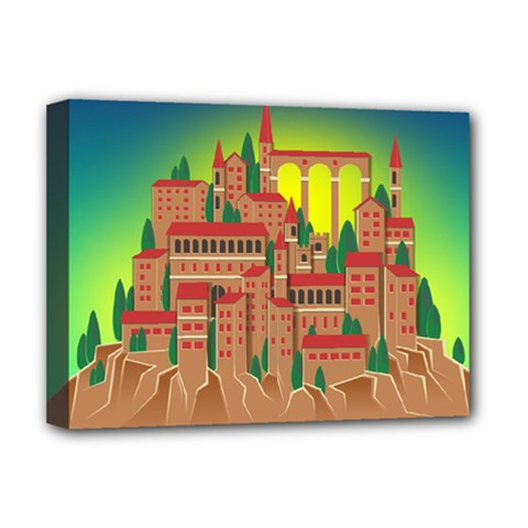 Mountain Village Mountain Village Deluxe Canvas 16  X 12
