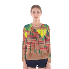 Mountain Village Mountain Village Women s Long Sleeve Tee