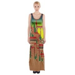 Mountain Village Mountain Village Maxi Thigh Split Dress