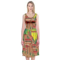 Mountain Village Mountain Village Midi Sleeveless Dress