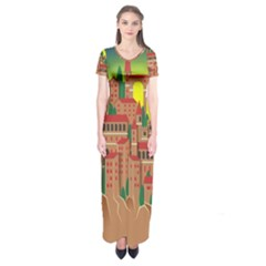 Mountain Village Mountain Village Short Sleeve Maxi Dress