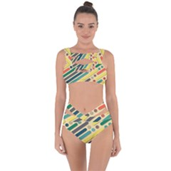 Background Vintage Desktop Color Bandaged Up Bikini Set