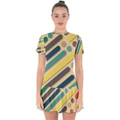 Background Vintage Desktop Color Drop Hem Mini Chiffon Dress