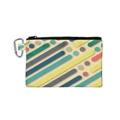 Background Vintage Desktop Color Canvas Cosmetic Bag (small)