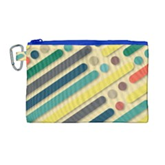 Background Vintage Desktop Color Canvas Cosmetic Bag (large) by Nexatart