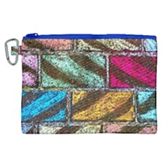 Colorful Painted Bricks Street Art Kits Art Canvas Cosmetic Bag (xl) by Costasonlineshop