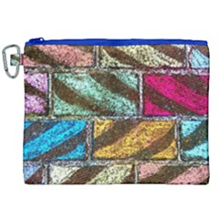Colorful Painted Bricks Street Art Kits Art Canvas Cosmetic Bag (xxl) by Costasonlineshop