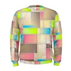 Background Abstract Grid Men s Sweatshirt
