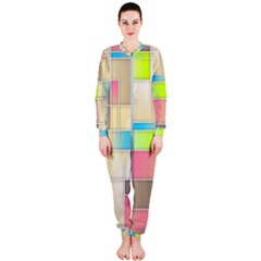Background Abstract Grid Onepiece Jumpsuit (ladies)