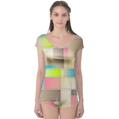 Background Abstract Grid Boyleg Leotard