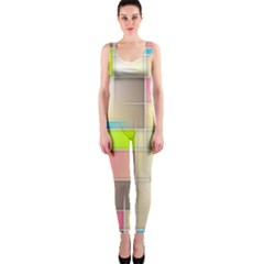 Background Abstract Grid Onepiece Catsuit