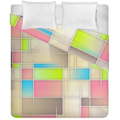 Background Abstract Grid Duvet Cover Double Side (california King Size)