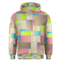 Background Abstract Grid Men s Overhead Hoodie