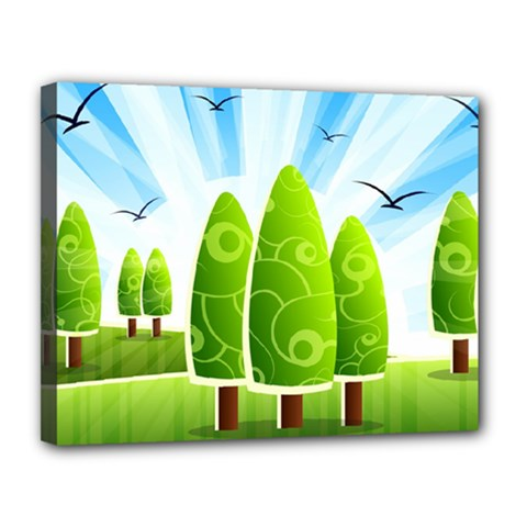 Landscape Nature Background Canvas 14  X 11