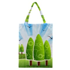 Landscape Nature Background Classic Tote Bag