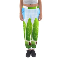 Landscape Nature Background Women s Jogger Sweatpants
